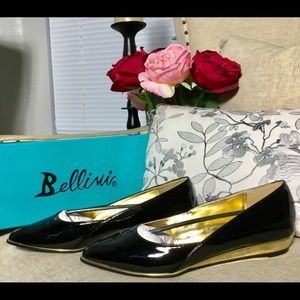Bellini 'Famous' Fashion Flats in Black & Gold